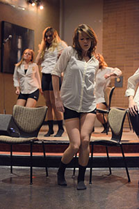 H20 performs during Kater To You. An evening of entertainment, food and a masseuse was hosted by Minority Men's Leadership Club, Kappa Alpha Psi and CCA Tuesday evening.