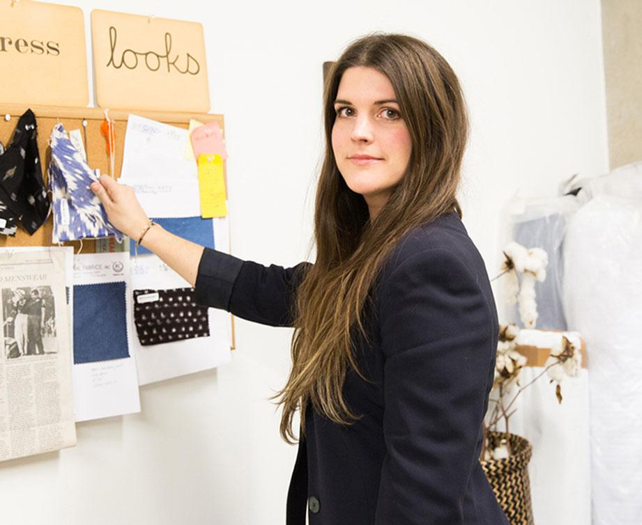 Appalachian alumna Stephanie Beard  branched out of the corporate fashion world to start her own fashion and accessory  brand called Esby. Beard used Kickstarter and raised more than $20,000 in funds for her fashion line. Photo courtesy of Sharon Clark.